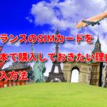 フランスのSIMカードを日本で購入しておきたい理由!おすすめSIMと購入方法