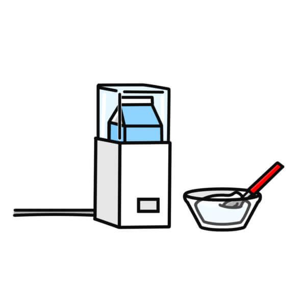 ヨーグルトメーカーでR1ヨーグルトの砂糖なしでの作り方